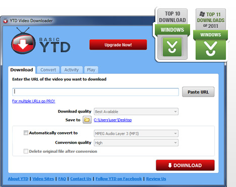 how to use the youtube downloader to download video