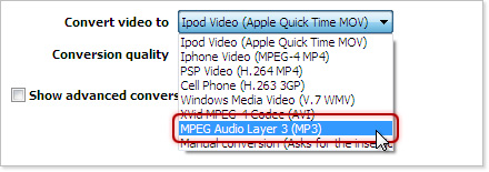 YouTube to mpeg