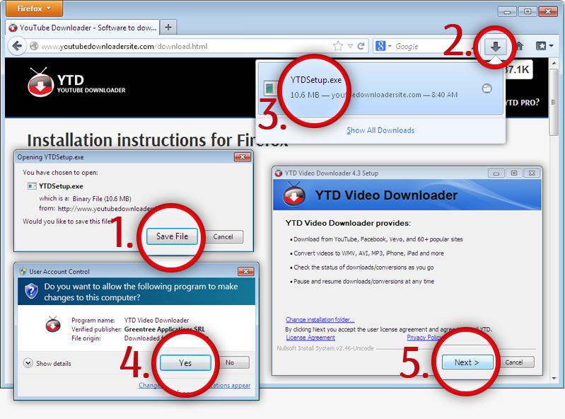 install ytd youtube downloader converter