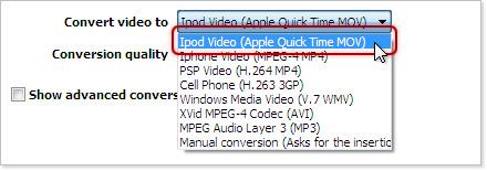 YouTube to iPod